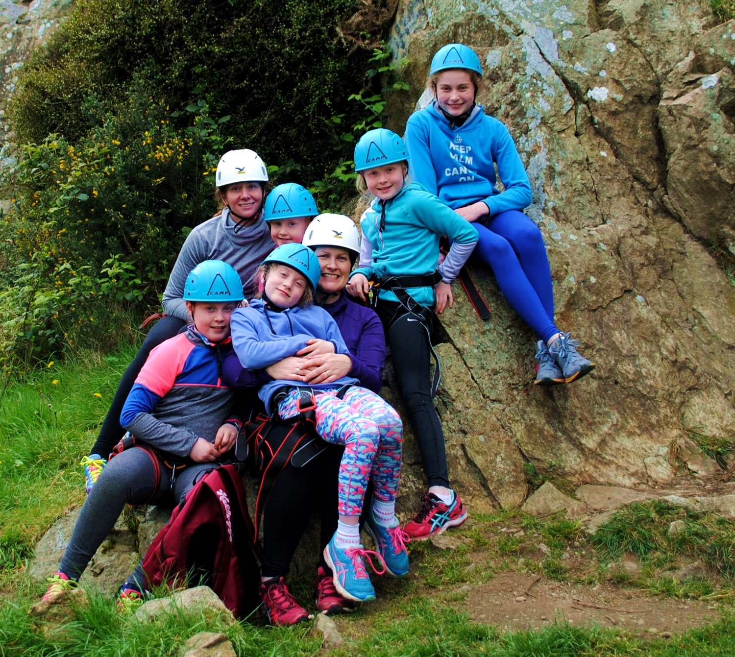 Family Climbing Dalkey 20th April 17