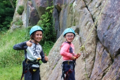 Abbie and Robyn Climbing
